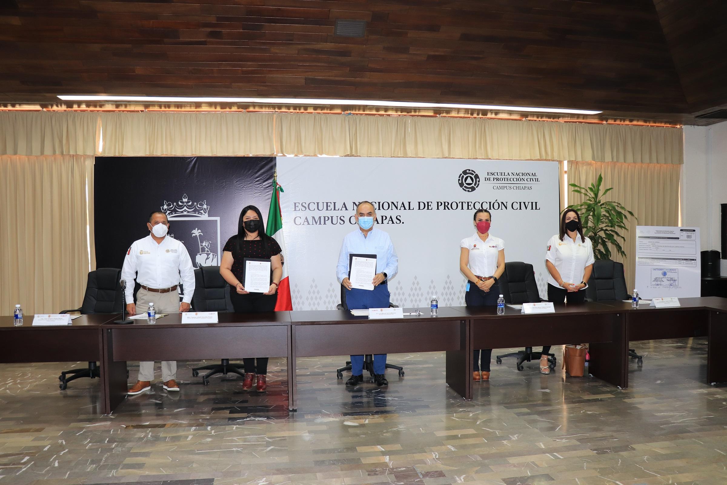 ICATECH firma Convenio de Colaboración con la Secretaría de Protección Civil del Estado